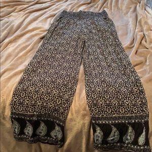 flowy wide-leg pants